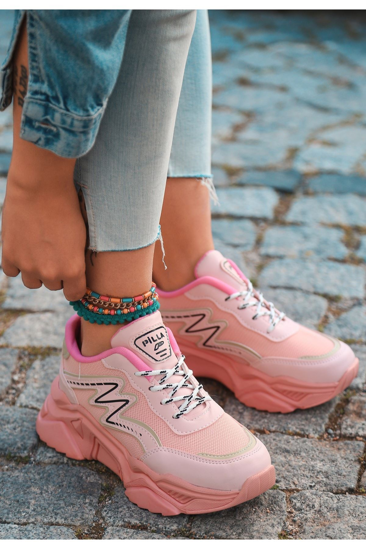 Maix Pudra Cilt Bağcıklı Spor Ayakkabı
