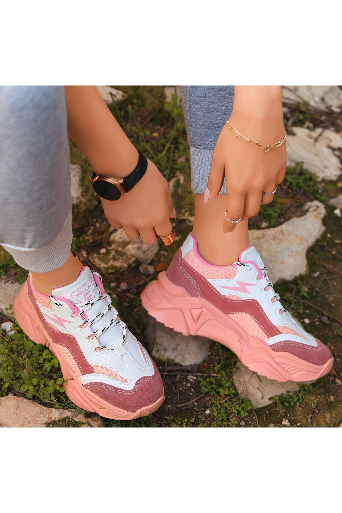 Maix Pudra Süet Cilt Detaylı Spor Ayakkabı