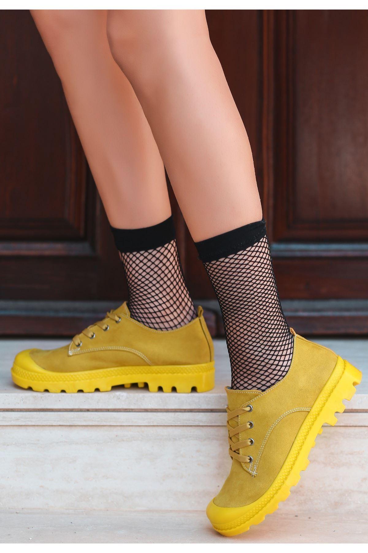 Mash Hardal Süet Bağcıklı Spor Ayakkabı