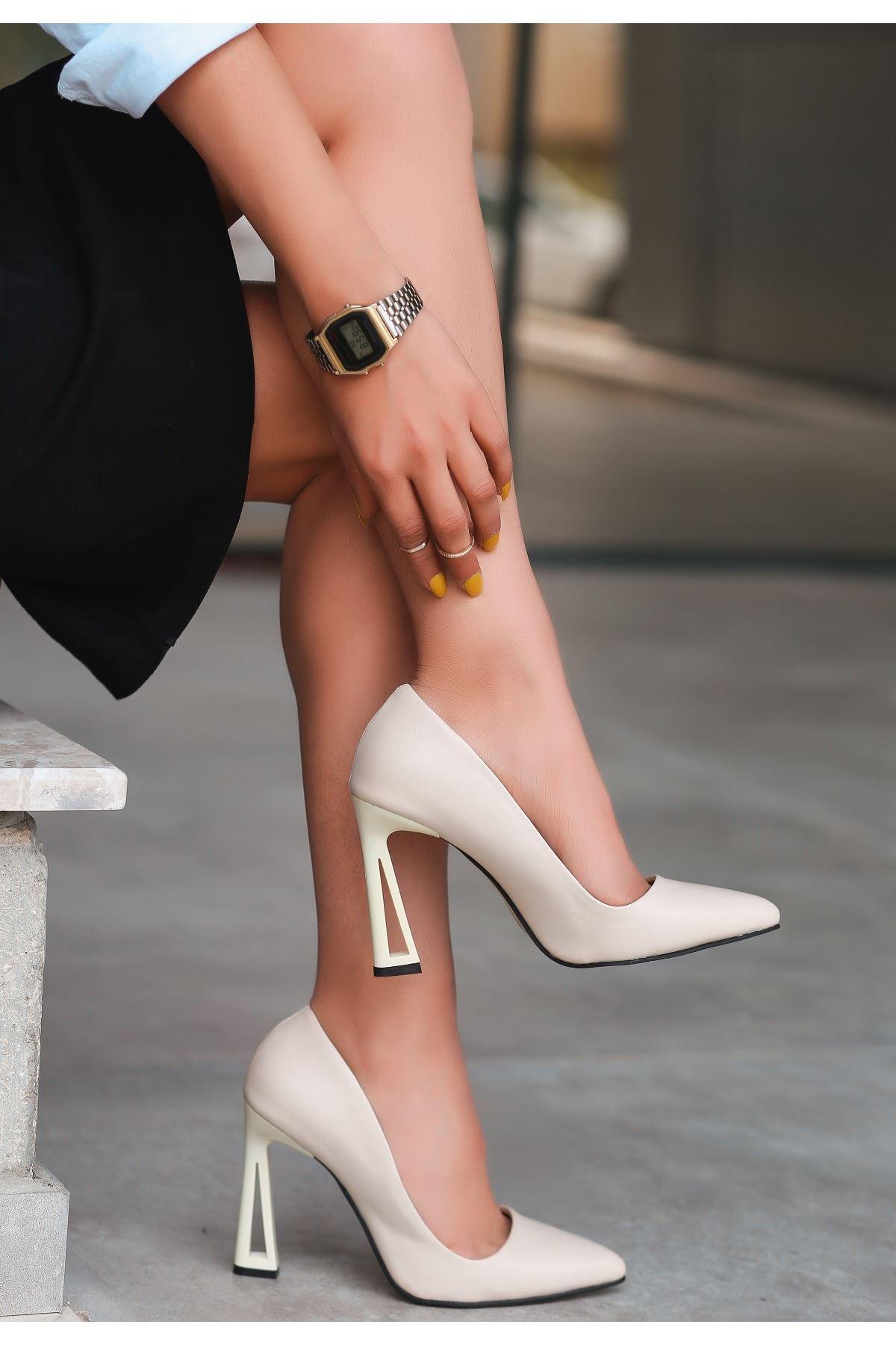 Diye Ten Cilt Topuklu Ayakkabı