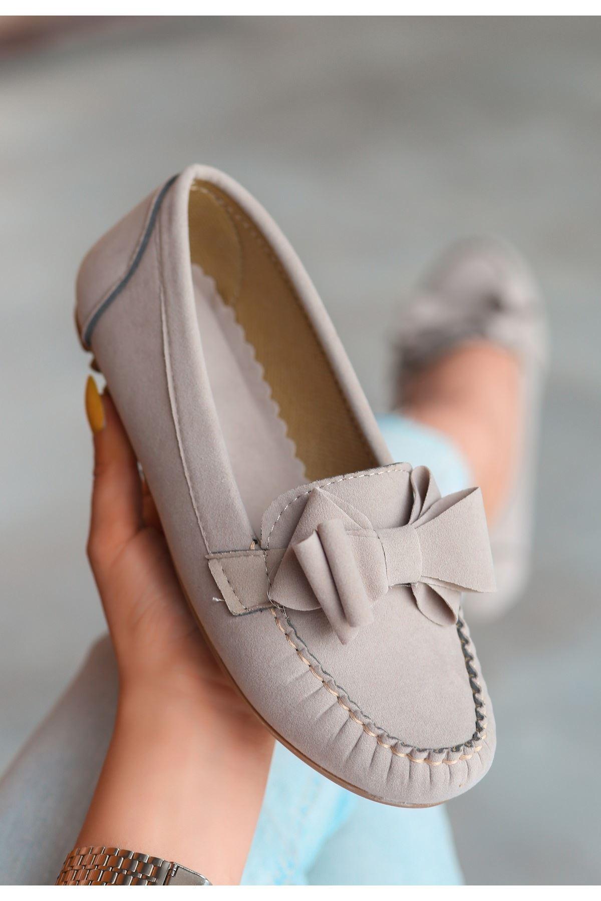 Jinax Vizon Süet Fiyonklu Babet Ayakkabı