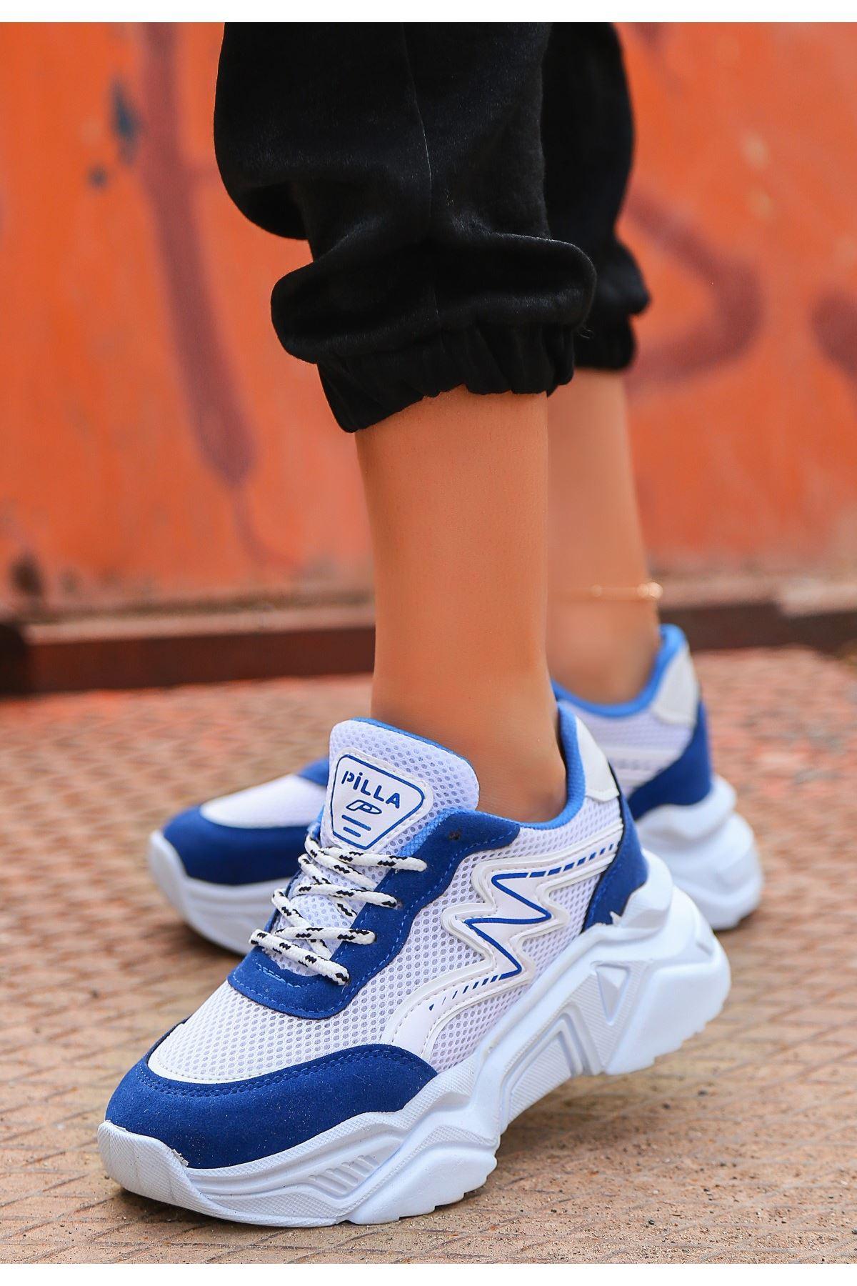 Maix Lacivert Süet Cilt Detaylı Spor Ayakkabı