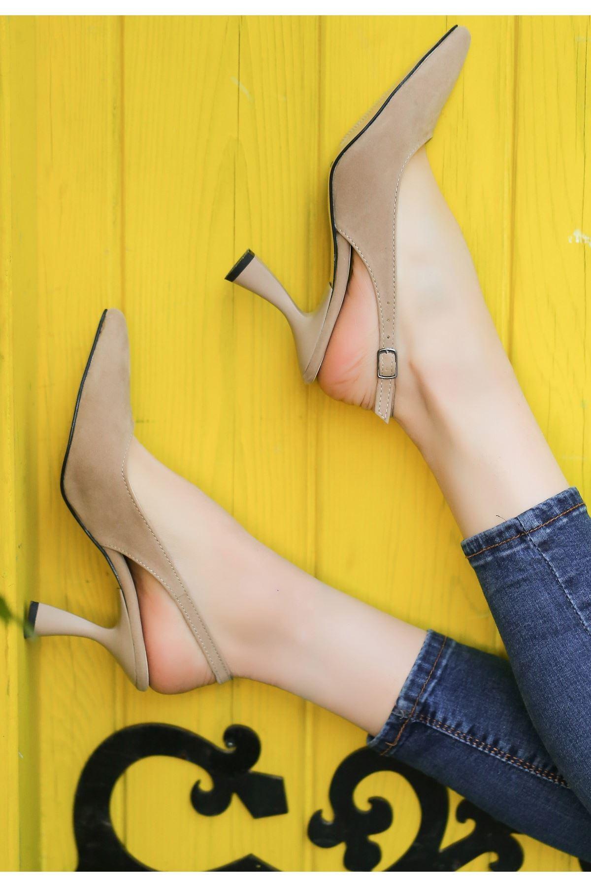 Onno Vizon Süet Topuklu Ayakkabı