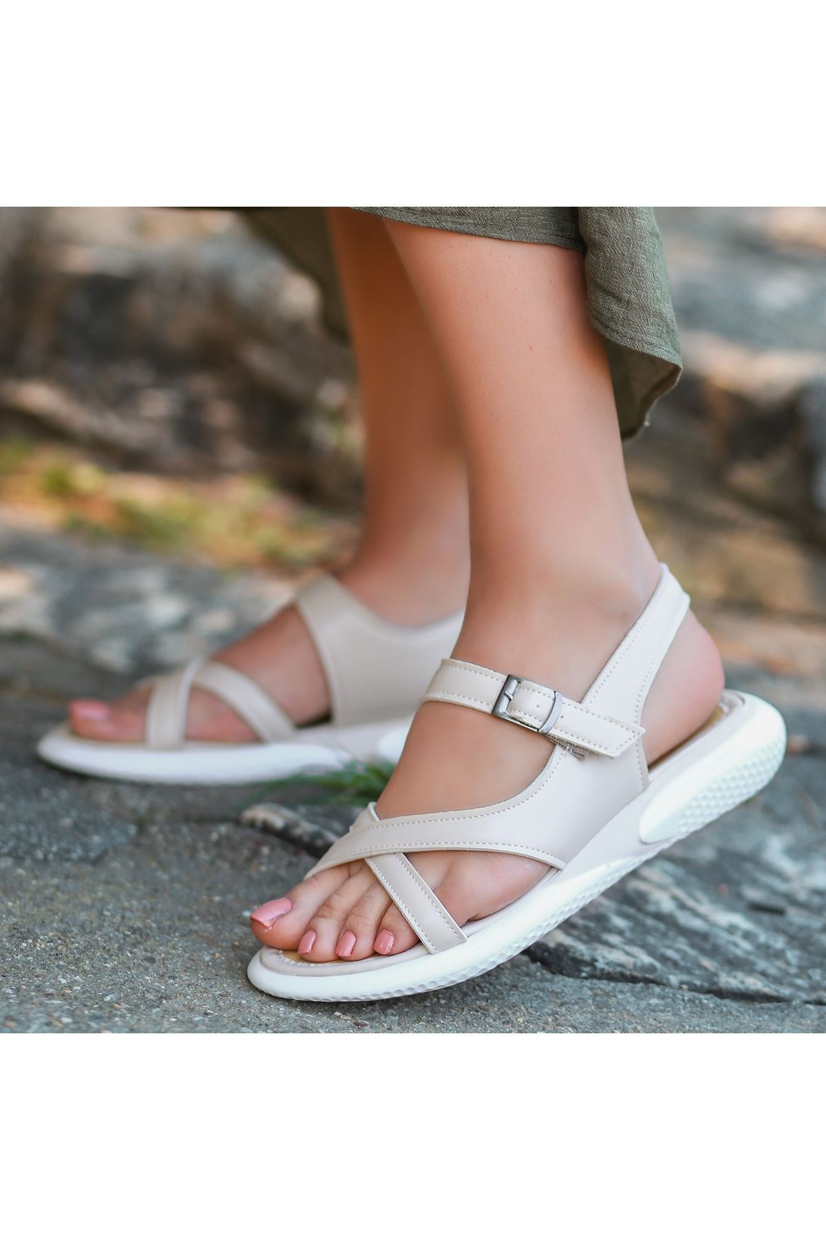 Erta Ten Cilt Sandalet