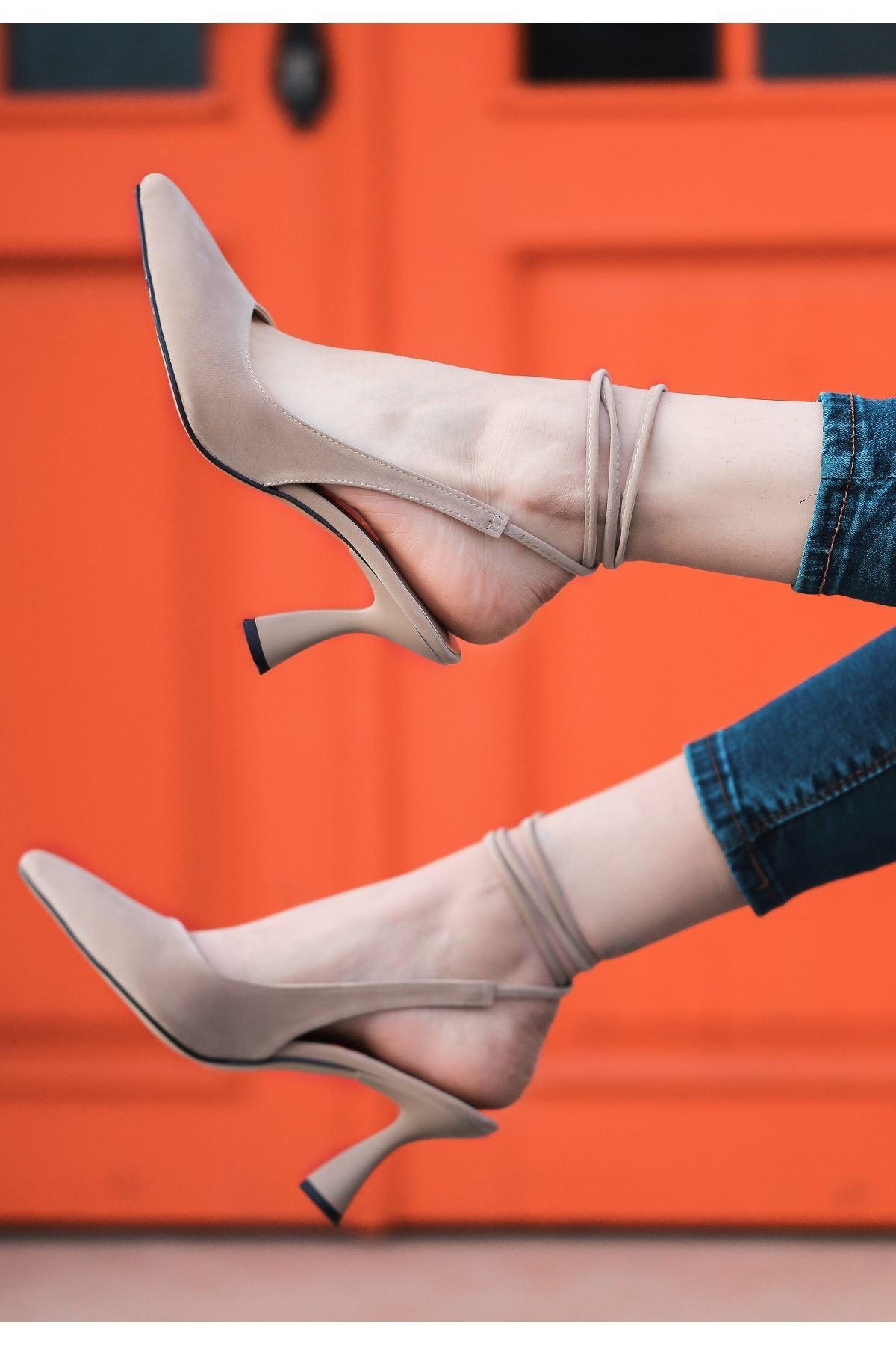 Wonna Vizon Süet Topuklu Ayakkabı
