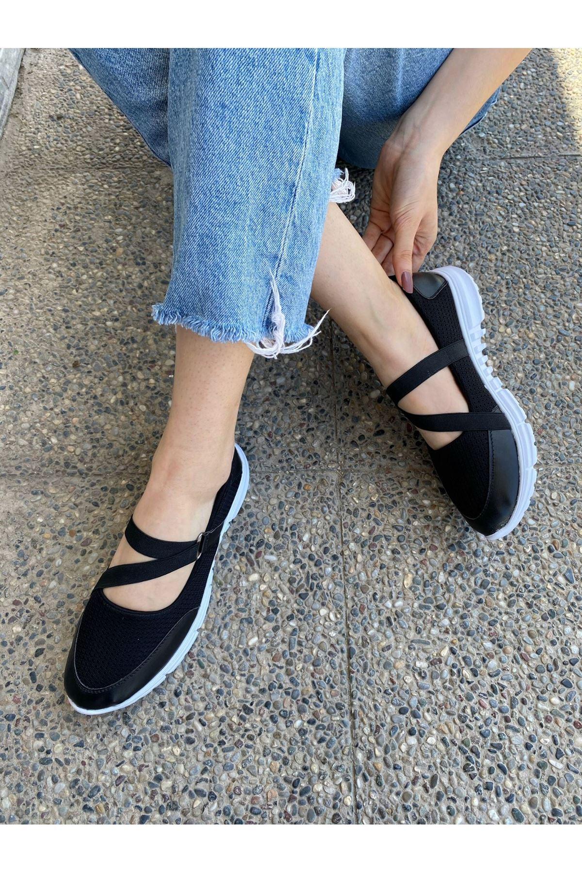 Maty Siyah Cilt Babet Ayakkabı
