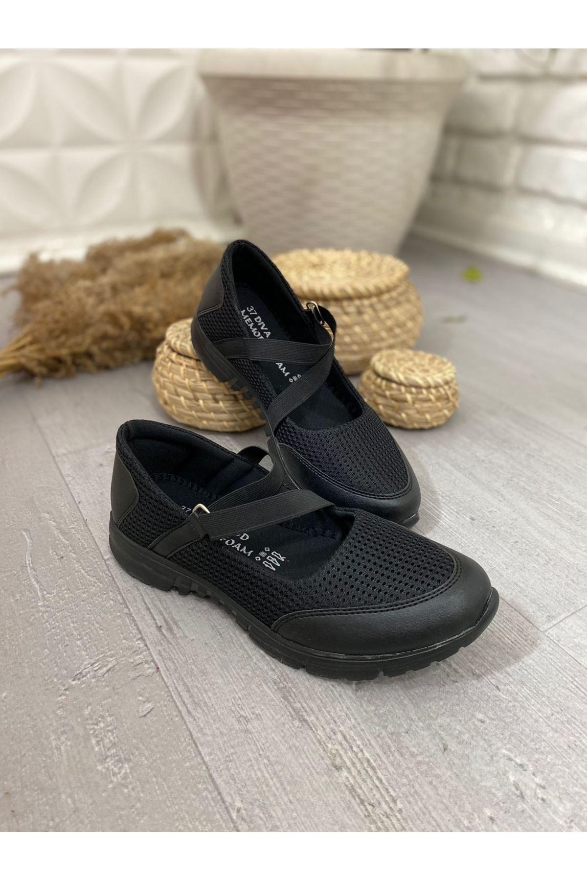 Maty Siyah Cilt Treç Babet Ayakkabı
